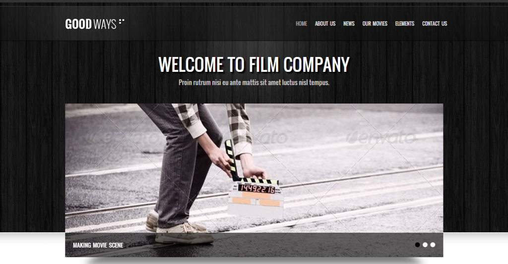 Goodways Entertainment and Film HTML Template