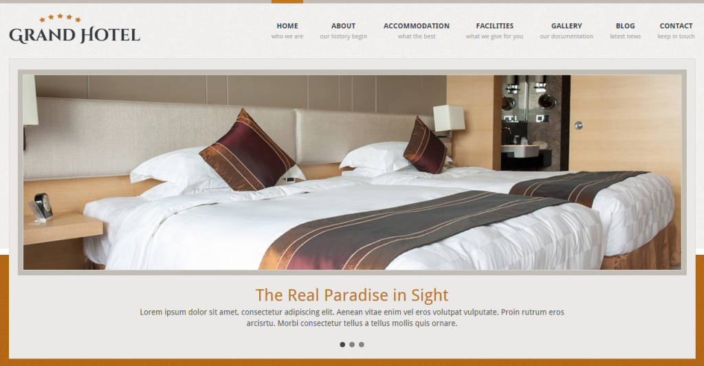 Grand Hotel Resorts Business HTML Template