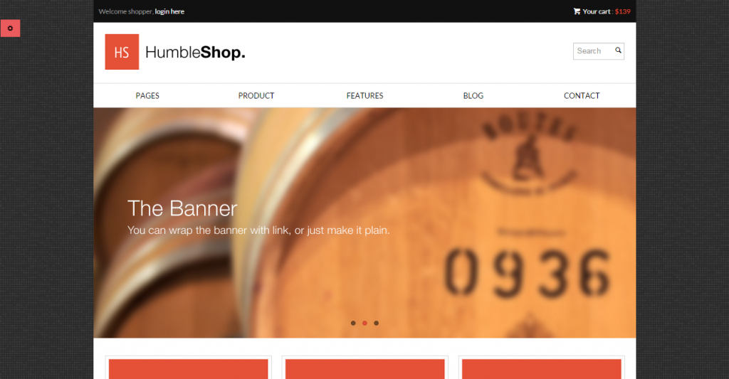 HumbleShop Minimal Responsive eCommerce Template