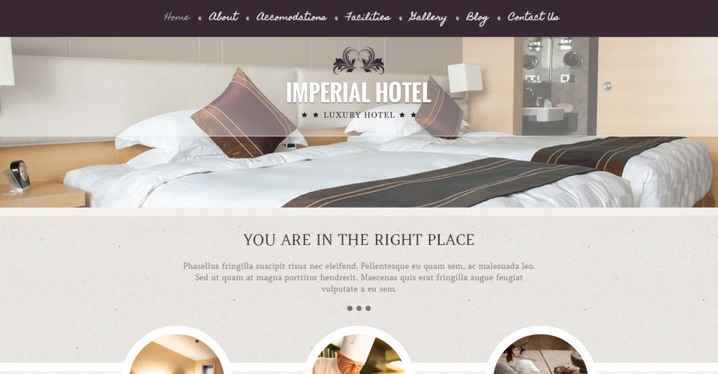 Imperial Hotel HTML Template