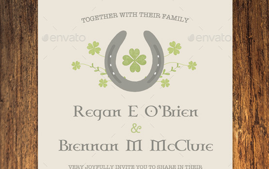 Irish Wedding Invitation Set