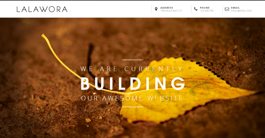 Lalawora Responsive Coming Soon Page