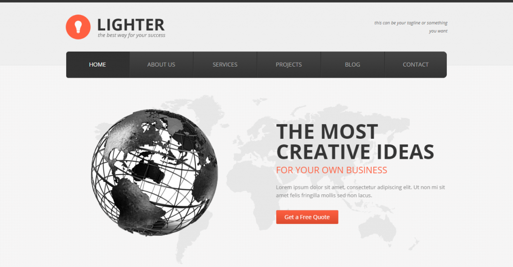 Lighter Responsive Business HTML Template