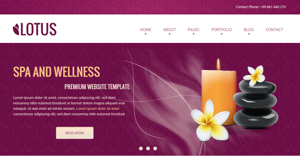 Lotus Spa & Wellness HTML Responsive Template