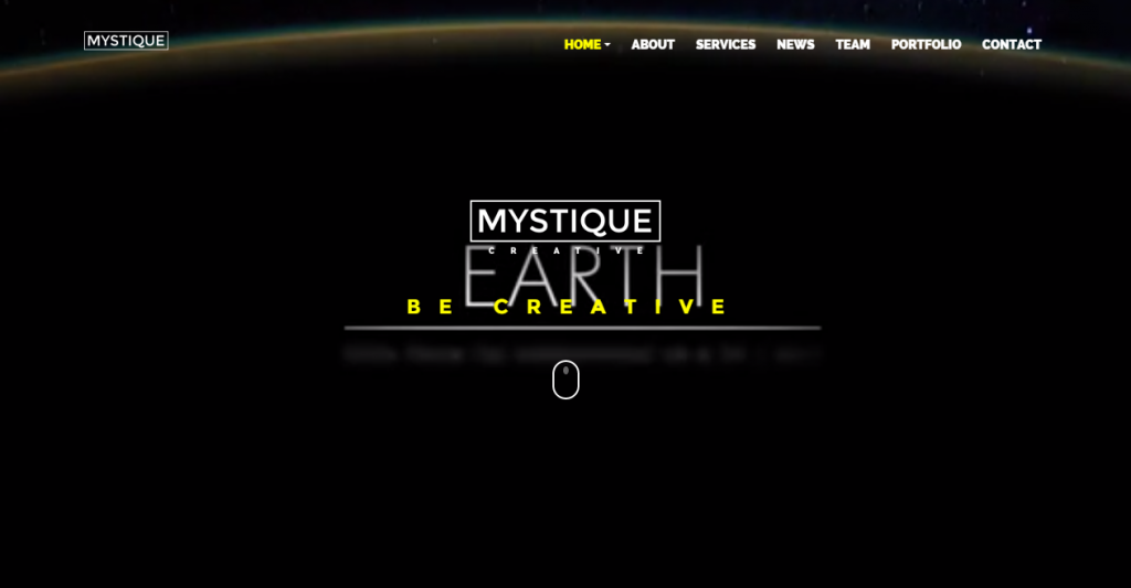 MYSTIQUE Creative One Page HTML5 Template