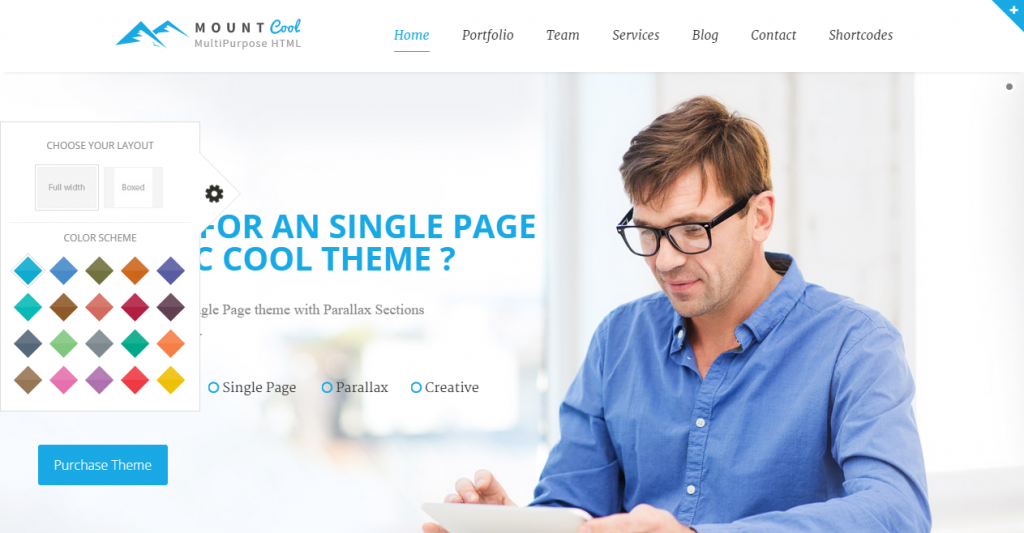 Mountcool Creative One Page Multipurpose Template