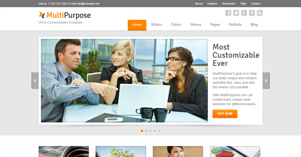 MultiPurpose Responsive HTML5 Website Template
