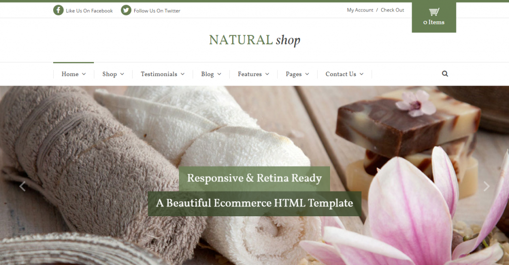Natural Shop Responsive eCommerce HTML Template