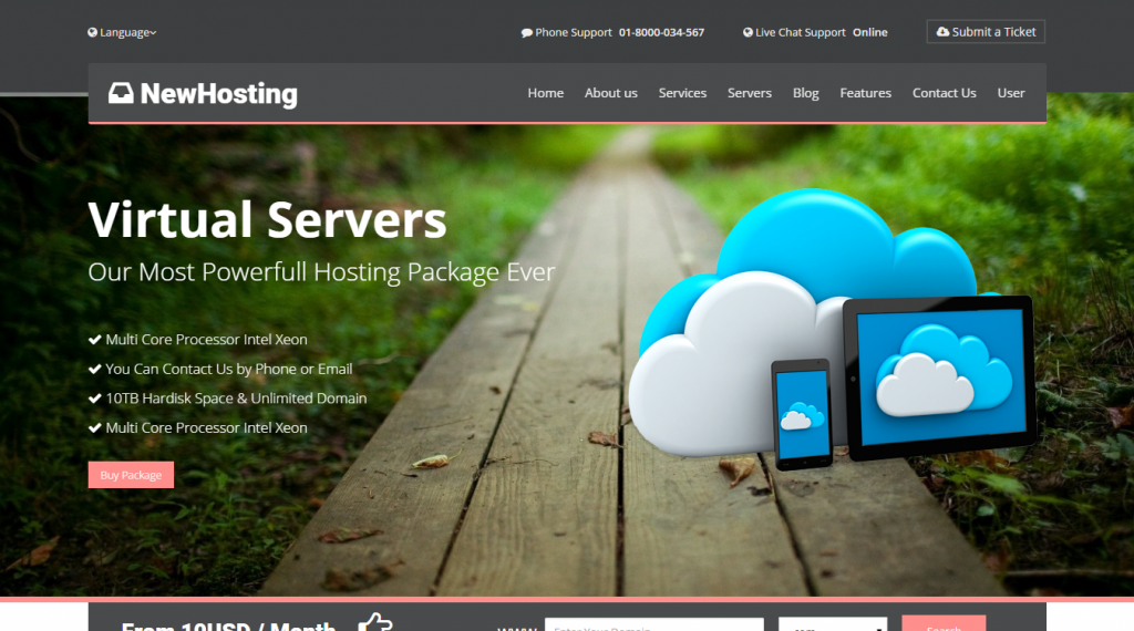 NewHosting Responsive Hosting Css3 Html5 Theme