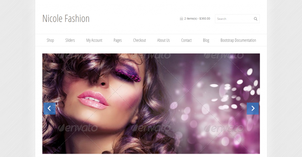 Nicole Fashion Bootstrap 3 eCommerce Template