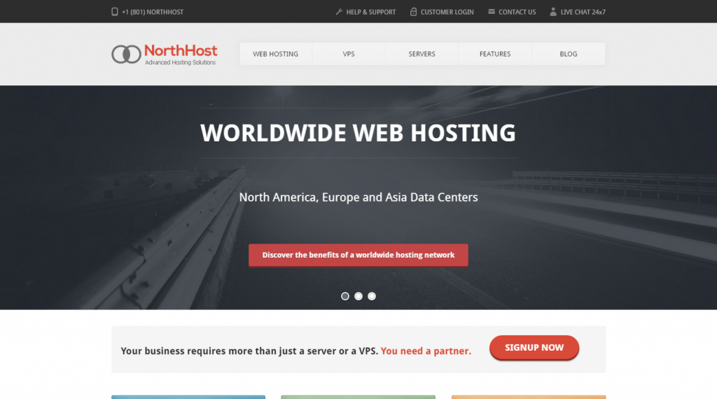 North Host Web Hosting, Responsive HTML Template