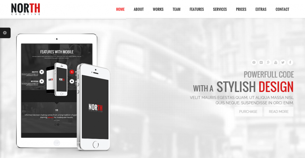 North One Page Parallax Theme