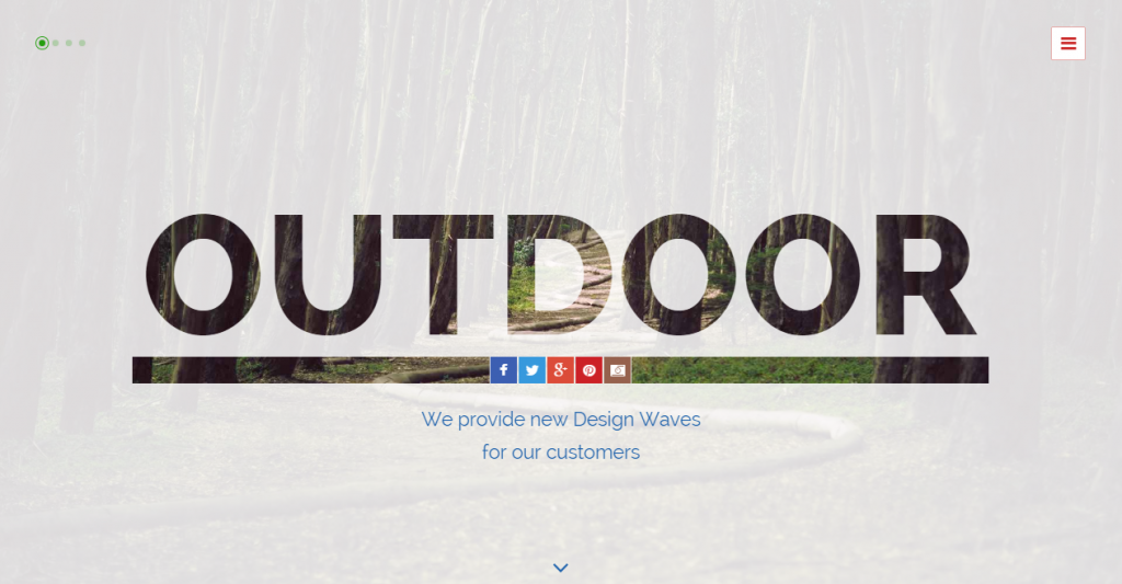 Outdoor OnePage Responsive Template