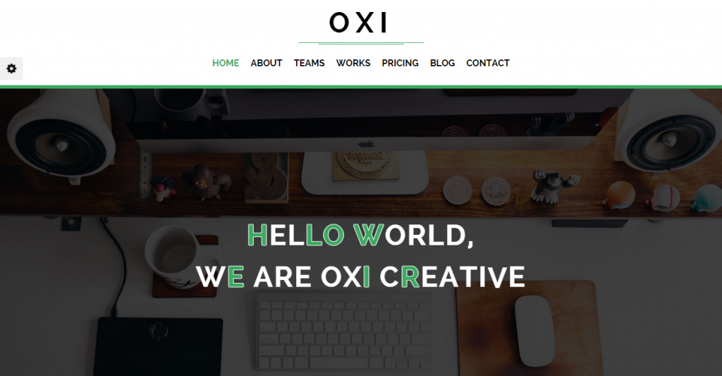 Oxi Responsive HTML 5 Template