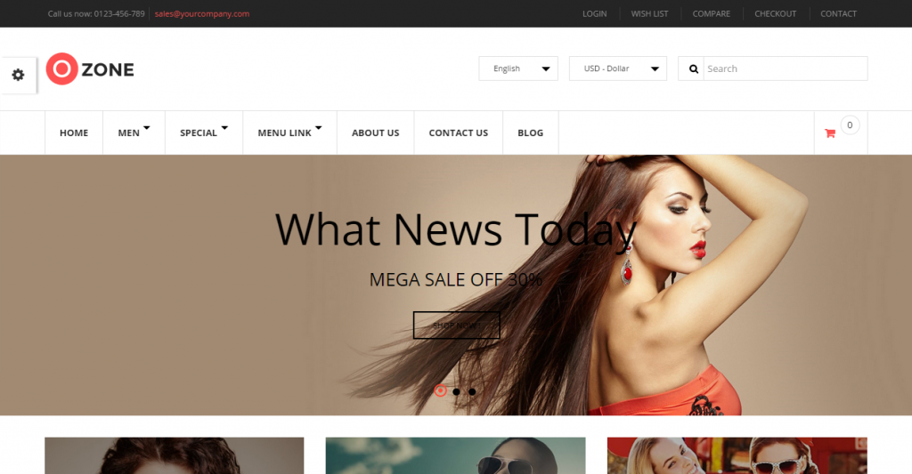Ozone Multi-Purpose Responsive Prestashop Theme