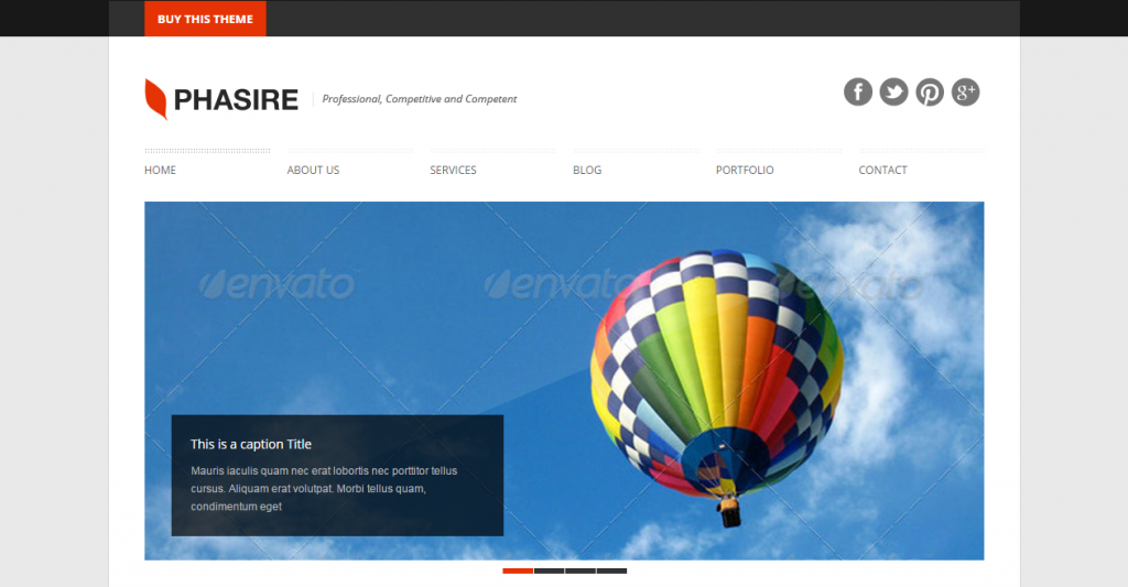 Phasire Business and Portfolio HTML Template