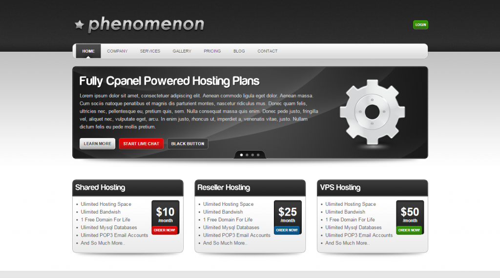 Phenomenon Premium Business & Hosting Template