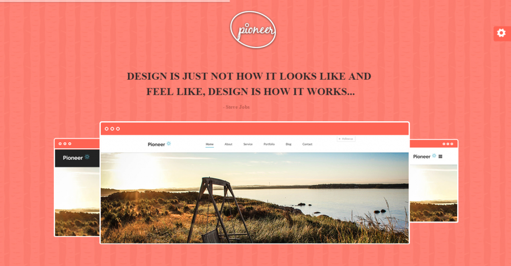 Pioneer One Page Parallax Html Template