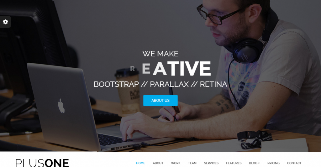 Plus One One Page Responsive Website Template