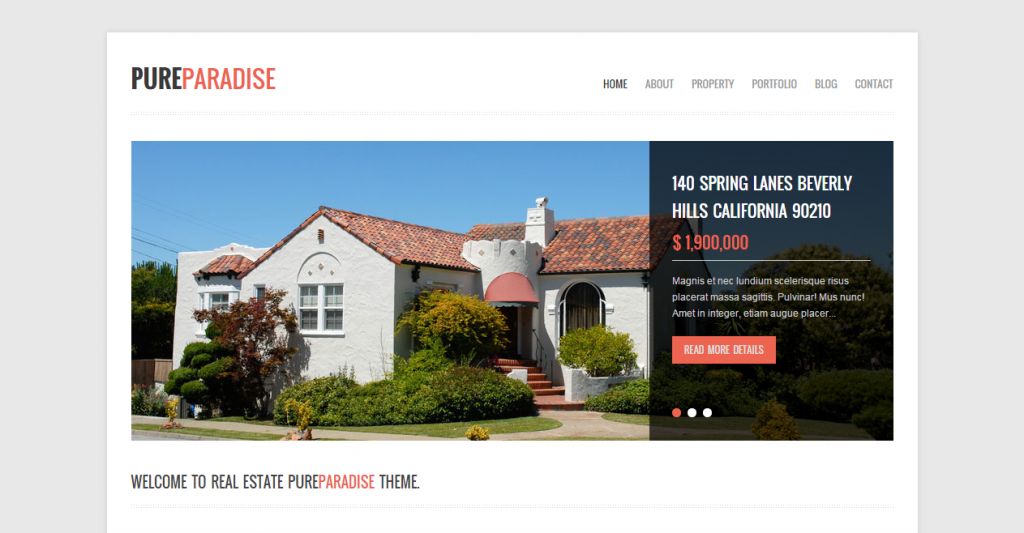 Pure Paradise Clean Real Estate HTML Template