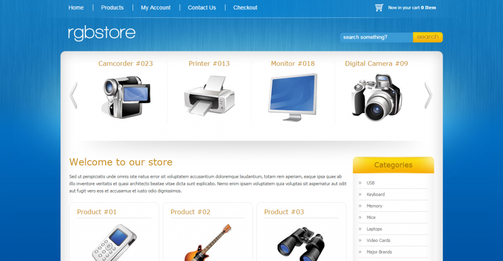 RGBStore Ecommerce HTML Template