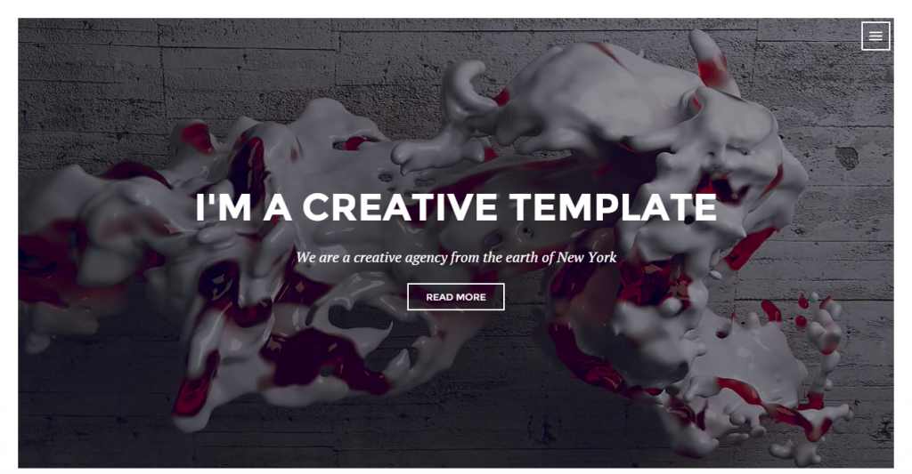 Race Creative One Page Template