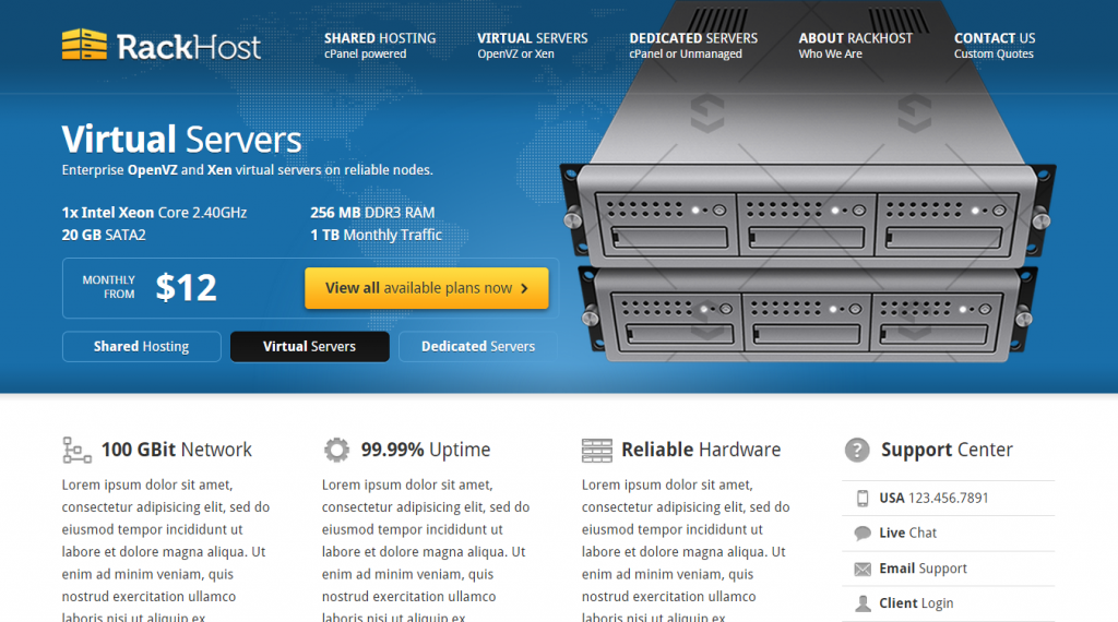 Rackhost Hosting & Business Theme