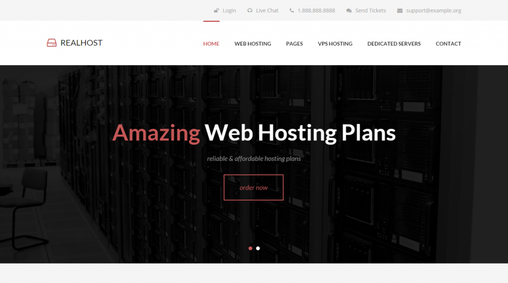 RealHost Responsive HTML5 Hosting Template
