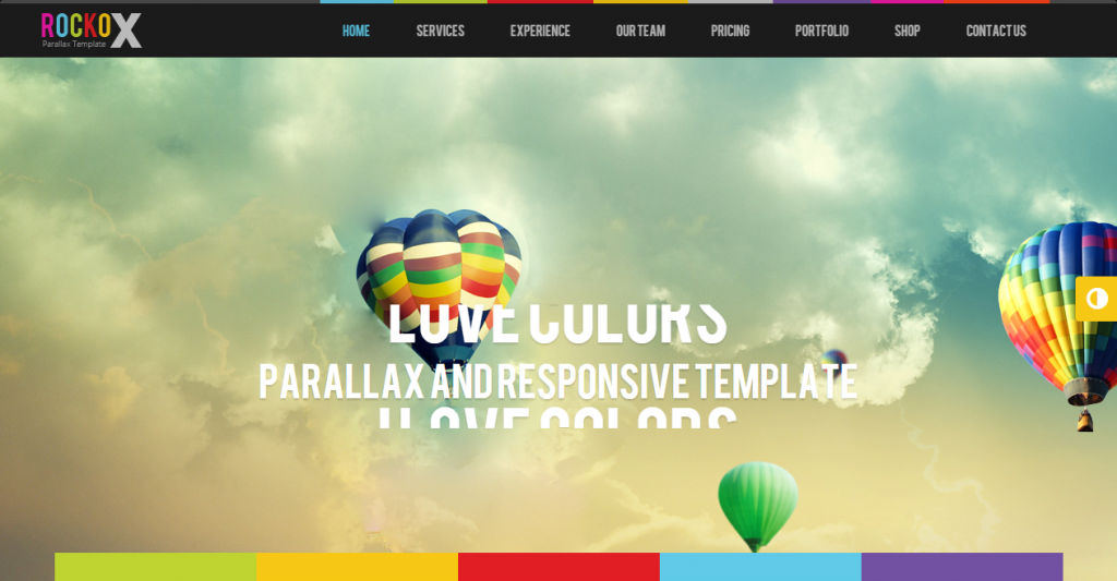RockoX One Page Parallax