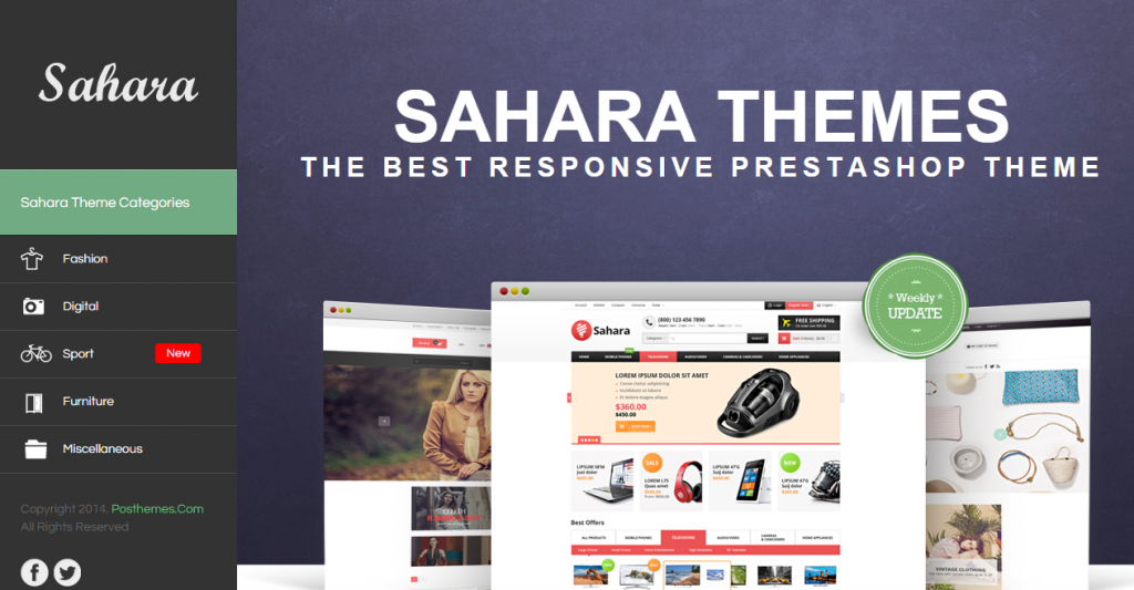 SAHARA Ultimate Responsive Prestashop Theme
