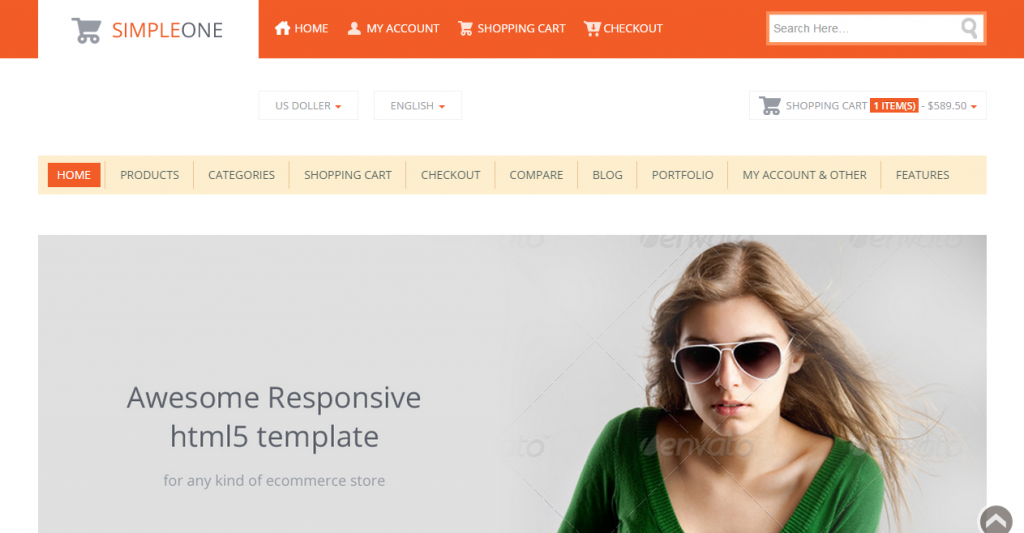 SIMPLEONE Html5 Responsive ecommerce Template