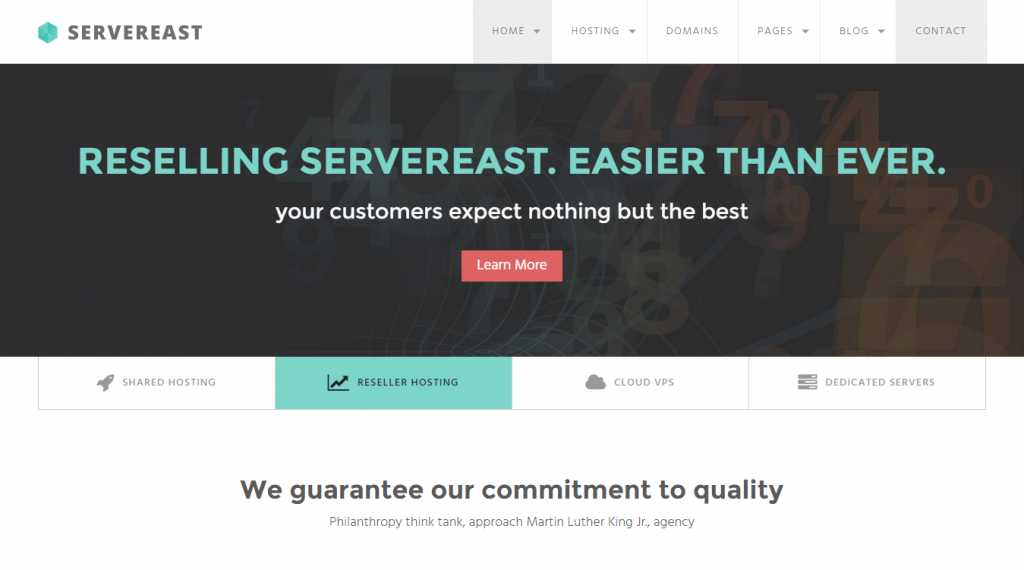 ServerEast Web Hosting HTML Template
