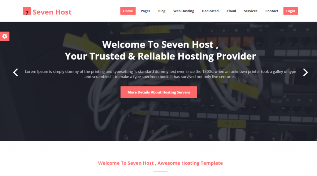 Seven Host Hosting HTML Template