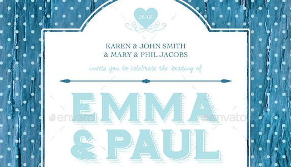 Shabby Chic Wedding Invite