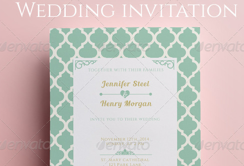 Simple Wedding Invitation and RSVP