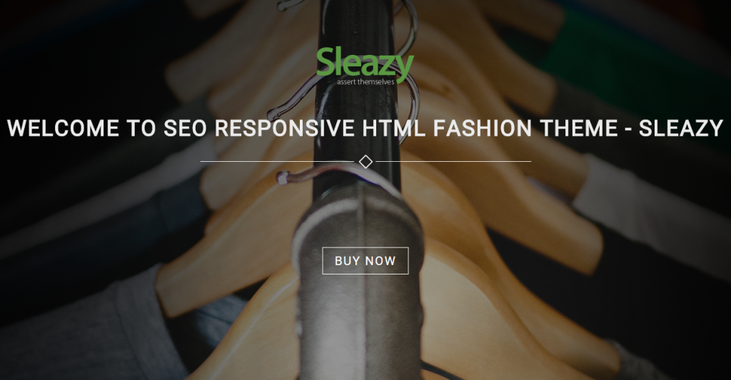 Sleazy SEO Responsive HTML Fashion Template