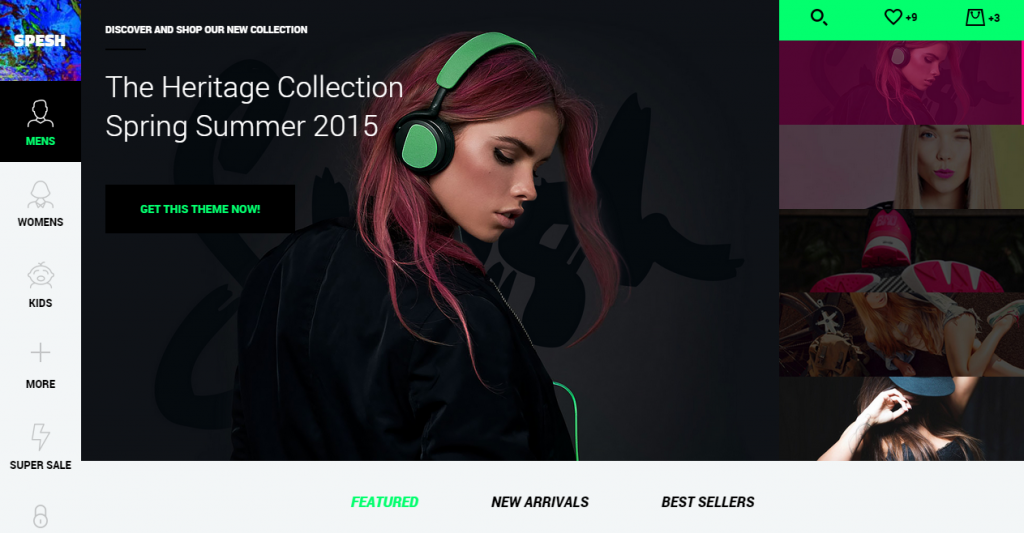 Spesh Responsive eCommerce HTML Template