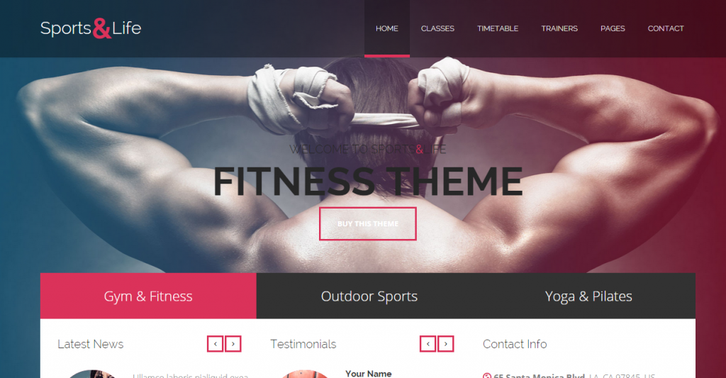 Sports&Life Gym & Fitness HTML Template