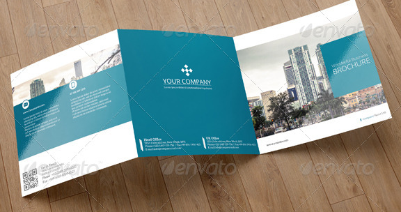 Square Trifold Brochure Business