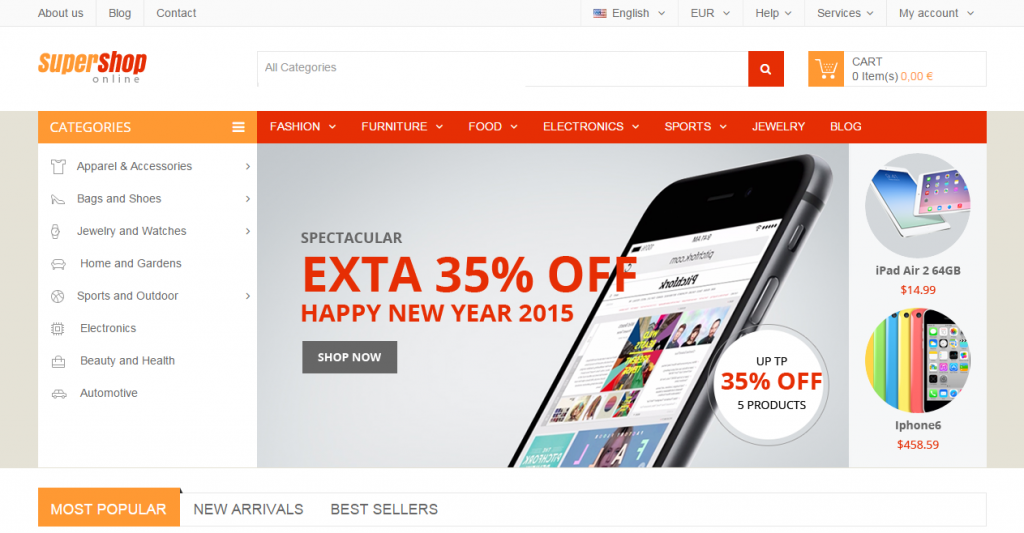 SuperShop Multi-Purpose Responsive Prestashop Theme