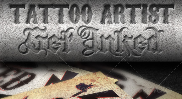 44 best business card psd templates weelii for Tattoo business card templates