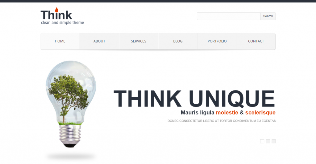 Think Responsive Corporate HTML Template