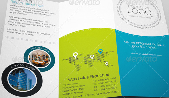 Business Brochure PSD Templates Weelii - Tri fold brochure psd template