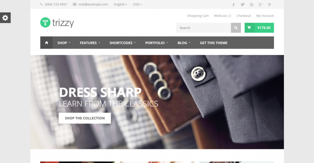 Trizzy Multi-Purpose eCommerce HTML Template