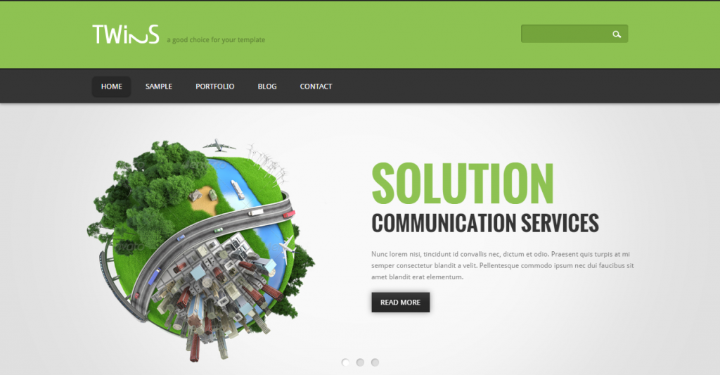 Twins Corporate Business HTML Template