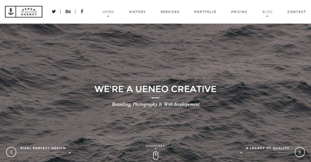 Ueneo Creative One Page HTML5 Template