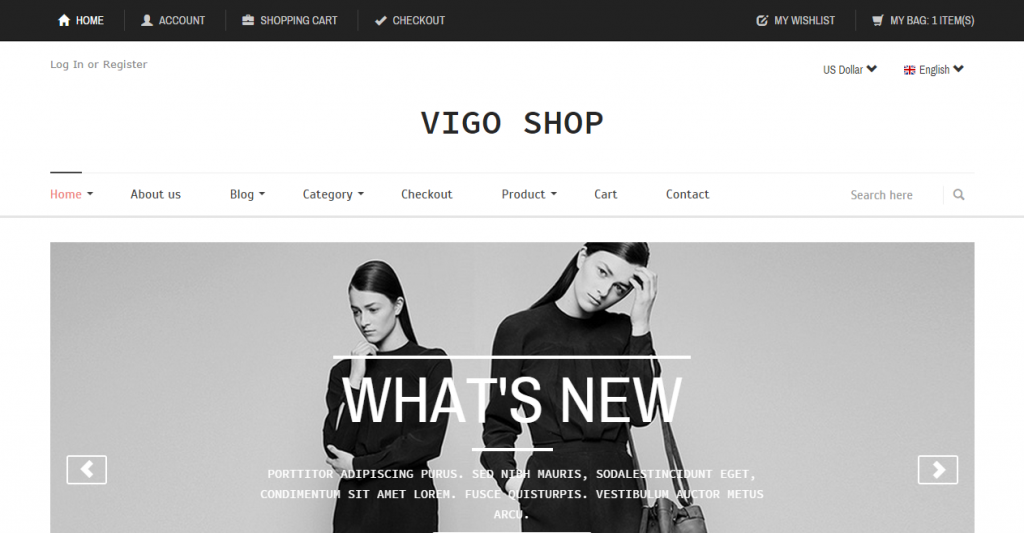 Vigo Shop Responsive eCommerce Template