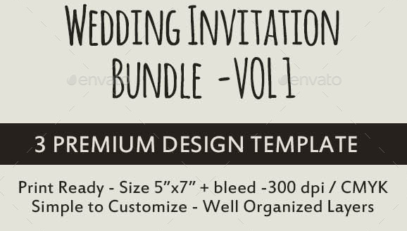 Vintage Wedding Invitation Bundle Vol. 1
