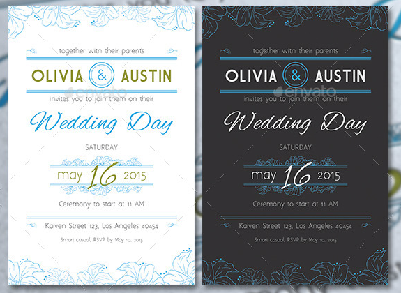 Vintage Wedding Invitation & RSVP