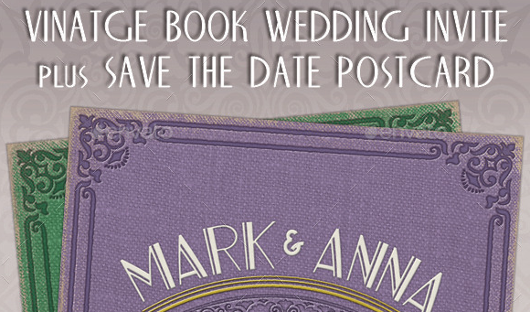 Vintage Wedding Invites, RSVP & Save the Date